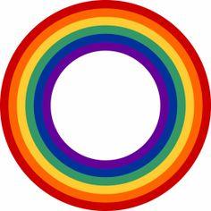 Regenbogenkreis - Ein Kreis in Regenbogenfarben.