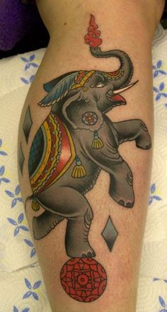 Circus Elephant Tattoo By Phatt German
