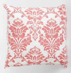 Red Linen Damask Print Cushion - - Hicks and Hicks Printed Cushions, Damask, Tapestry, Throw Pillows, Red, Home Decor, Hanging Tapestry, Tapestries, Toss Pillows