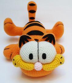 Garfield. http://es.dawanda.com/product/45737610-Garfield-amigurumi