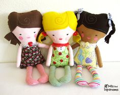 Easy Girl Doll Sewing PDF Pattern by DollsAndDaydreams on Etsy, $9.00 Might be a Girls in Action Project!