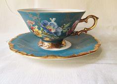 German Antique Tea Cups Saucers | Vintage German Tea Cup and Saucer by teacupsfromsharon on Etsy