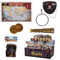 TY563 - Set da Pirata - Mappa, Telescopio, Benda, Monete D'Oro e Gioiello   Puckator IT #partybag #kid #idee #compleanno #bambino