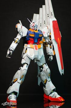 GUNDAM GUY: GUNDAM GUY: READERS FEATURE GUNPLA BUILD - MG 1/100 Nu Gundam Ver .ka [RX-78-2 Colors] by zephyr1220 Gunpla Custom, Custom Gundam, Plastic Model Kits, Plastic Models, Astray Red Frame, Gundam Mobile Suit, Gundam Seed, Gundam Art, Mecha Anime