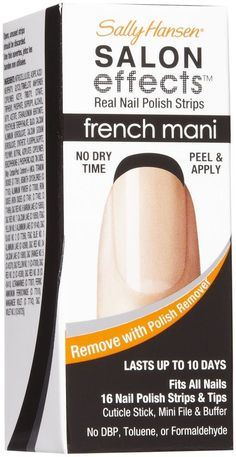 SALLY HANSEN Salon Effects Real Nail Polish Strips French Mani - NOIR BOUDOIR #SallyHansen