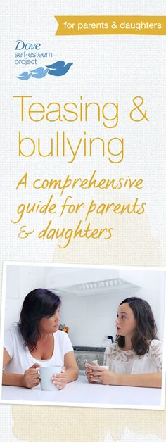 These days, teasing and bullying come in many forms—in-person and online. It's important to understand what these forms look like and how they can affect your daughter's self-esteem, especially in her adolescent years. Our useful articles and activities will help lay the groundwork with your daughter so she can start dealing with, and understanding the dynamics of teasing and bullying. #SelfEsteemProject