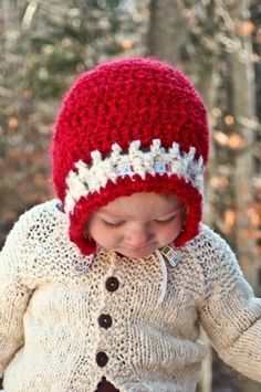Holiday Toddler Bonnet FREE Crochet Pattern from Rhythm of the Home
