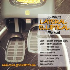 A Daily Dose of Fit: Workout Wednesday: 30-Minute Lateral #Elliptical Workout