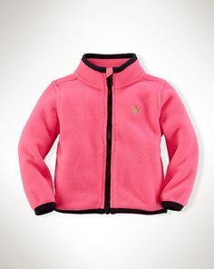 Fleece Full-Zip Jacket - Baby Girl Outerwear & Jackets - RalphLauren.com