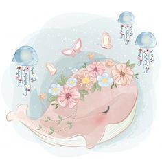 Discover thousands of Premium vectors available in AI and EPS formats Cute Animal Illustration, Illustration Art, Watercolor Illustration Children, Animal Drawings, Cute Drawings, Pencil Drawings, Illustration Mignonne, Illustrator, Baby Art