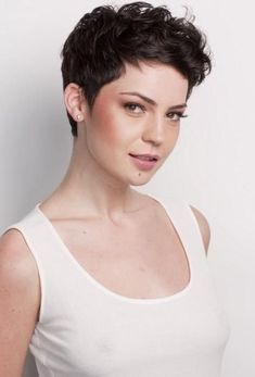 2017 Short Pixie Haircuts For Curly Hair Inside Best 25+ Curly Pixie Cuts Ideas On Pinterest #ShortHairStyles