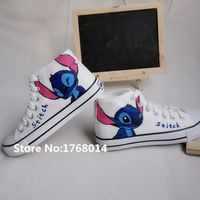 Pure hand painted white canvas shoes Lilo Stitch http://it.aliexpress.com/store/product/Pure-hand-painted-white-canvas-shoes-Lilo-Stitch-fashion-plimsolls-for-unisex-men-women-high-top/1768014_32583051207.html