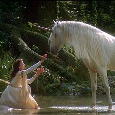 The Movie Legend by Ridley Scott Starring Tom Cruise, Mia Sara and Tim Curry Magical Creatures, Fantasy Creatures, Mia Sara, Image 3d, The Last Unicorn, Real Unicorn, Renoir, Ridley Scott, Witches