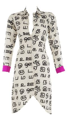 Cotton long Kurti with tamil print