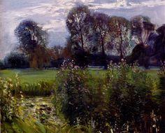 The Waveney At Hoxne by Sir Alfred James Munnings