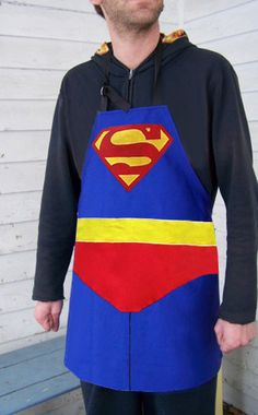 Superman Chef's Apron Cosplay Costume from Poppy's Garden Gate
