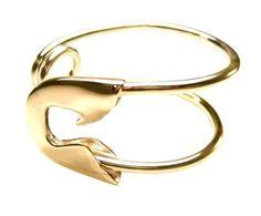 large gold safety pin cuff, tom binns