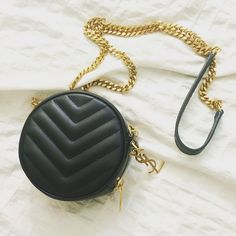"*Authentic* Saint Laurent YSL Small Bubble bag *Brand new* comes with dust bag. 100% leather with chevron details. Measurements: 4 3/4"" w x 4 3/4 h. Authenticity cards available. Saint Laurent Bags Mini Bags"