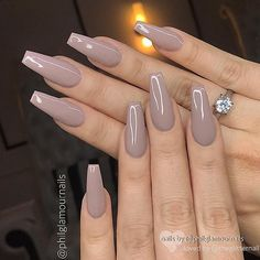 ✨ REPOST Perfect shape and color. What do you think? 😃 🎨 Dusty Mauve on Coffin Nails ✨👌. Acrylic Nails Coffin Short, Simple Acrylic Nails, Best Acrylic Nails, Coffin Nails, Gel Nails, Manicure, Perfect Nails, Gorgeous Nails, Pretty Nails