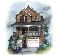 Coastal Home Plans - Benning