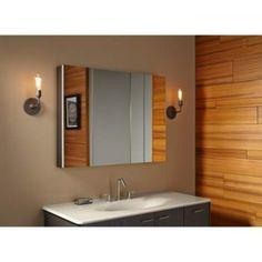 KOHLER K 99011 NA Verdera 40 Inch By 30 Inch Slow Close Medicine Cabinet  With Magnifying Mirror Kohler Http://www.amazon.com/dp/B00DX5LSH8/refu003dcm_su2026