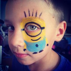 Despicable Me (minion) face painting #facepainting
