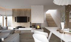 New nordic 2 - koncepcja - Duży salon z jadalnią, styl skandynawski - zdjęcie od ELEMENTY