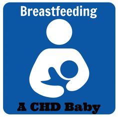 Breastfeeding a baby with a congenital heart defect.