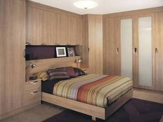 Image result for built in wardrobe around bed