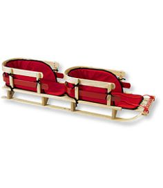 #LLBean: Kids' Pull Sled and Cushion Set, Tandem ~ I...totally want this.