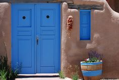 Blue Doors in Ranchos de Taos by fairangels, via Flickr
