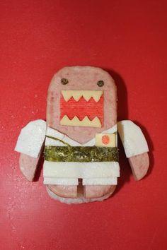 Just remembered that snow trip --Judo Domo-kun Spam Musubi by MIRA mama