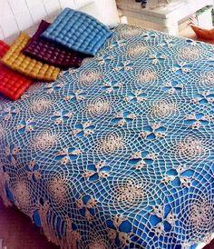 Crochet Lace Bedspread Pattern - Beautiful Hexagon-Motif