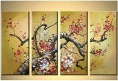 4 Piece Canvas Art Modern Art Hand Painted Oil Painting on Canvas Wall Art Deco Home Decoration (Unstretch No Frame) Oil Painting Abstract, Painting Canvas, Poster Prints, Art Prints, Posters, Art Deco Home, Great Paintings, Painting Techniques, Wall Art Decor