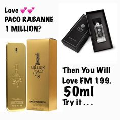 Inspired by Paco Rabanne (same Fragrance family) Type: rich, multi-threaded Head notes: Italian mandarin, peppermint Heart notes: cinnamon, Turkish rose, cardamom Base notes: leather notes Fm Cosmetics, Cosmetics & Perfume, Emma Beauty, Interactive Facebook Posts, Perfume Quotes, After Shave, Smell Good, Peppermint, Fragrance