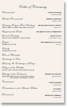 One Page Wedding Program Template | Wedding Programs Sample One Page Mkdphoto Com Wedding Reception