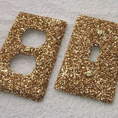 Gold Rush Glitter Light Switch or Outlet Covers - I'd do a DIY of these for Azra's room Paris Rooms, Paris Bedroom, Bedroom Decor, Bedroom Ideas, Bedroom Furniture, Furniture Design, Furniture Decor, Paris Room Decor, Bedroom Fun