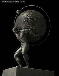 Après la révolte des Titans contre les dieux de l'Olympe, Atlas fut condamné par Zeus à soutenir la voûte céleste jusqu'à ce que quelqu'un veuille le remplacer.