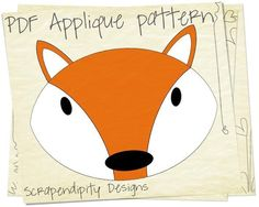 Forest Animal Applique Templates | cute fox material | Fox Animal Fabric ... by Scrapendipity | Quilting ...