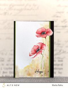 Pre-Order New Product Altenew Stamps Painted Poppy