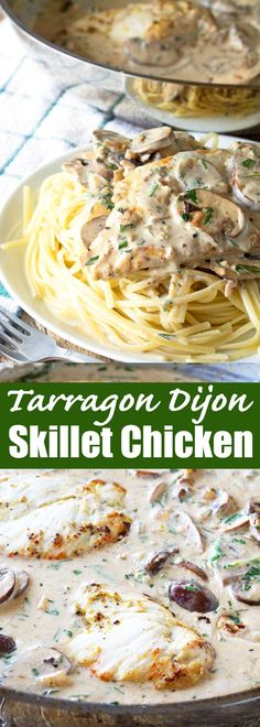 This easy skillet chicken dish gets elevated with the flavor of fresh tarragon. Creamy Tarragon Dijon Skillet Chicken is a 30 minute meal you will want to eat every day!