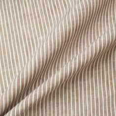 A premium quality brown and white striped superfine pure linen. This hard wearing, yet breathable luxury woven fabric is ideal for practical tailoring, such as shirts. New in and available in a variety of colours and patterns. Shirting Fabric, Woven Fabric, Buy Fabric Online, Fabric Shop, Dress Making, Pure Products, Stuff To Buy, Brown, Brown Colors