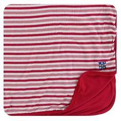 KicKee Pants Candy Cane Stripe Toddler Blanket