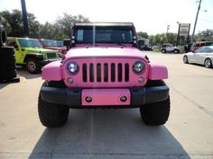 pink jeep wranglers on pinterest pink jeep jeeps and. Black Bedroom Furniture Sets. Home Design Ideas