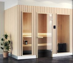 Sauna Envolve Elegance Tylö® - www.oliness.com - Concessionnaire Jacuzzi® région centre Fireplace Ideas, Jacuzzi, Centre, Divider, Elegant, Room, Furniture, Home Decor, Lineup
