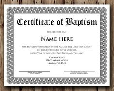 Certificate Of Baptism Word Template Beautiful 36 Word Certificate Templates Blank Certificate Template, Certificate Of Completion Template, Printable Certificates, Gift Certificates, Catholic Baptism, Roman Catholic, Word Online, Certificate Of Appreciation, Word Free