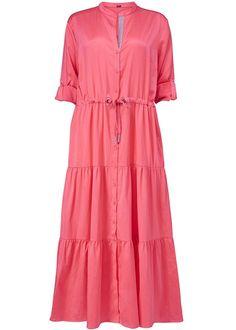 Gustav Lang Pink Kjole 23503 Long Dress - berry red