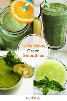 Need to detox your diet? These 13 green smoothie recipes are so tasty you'll forget you're getting a healthy dose of vegetables. via @dailyburn