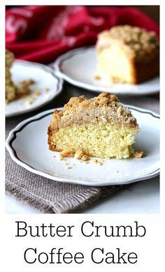 Butter Crumb Coffee Cake #coffeecake #streusel #buttercrumb #breakfast #buttercrumbcoffeecake