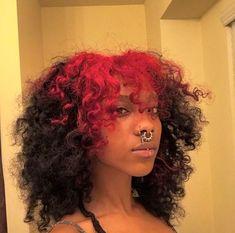 Dyed Curly Hair, Dyed Natural Hair, Dye My Hair, New Hair, Curly Hair Styles, Natural Hair Styles, Pretty Hairstyles, Girl Hairstyles, Black Women Hairstyles